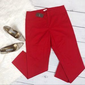 J. Jill Tomato Red Stretch Ankle Dress Pants New